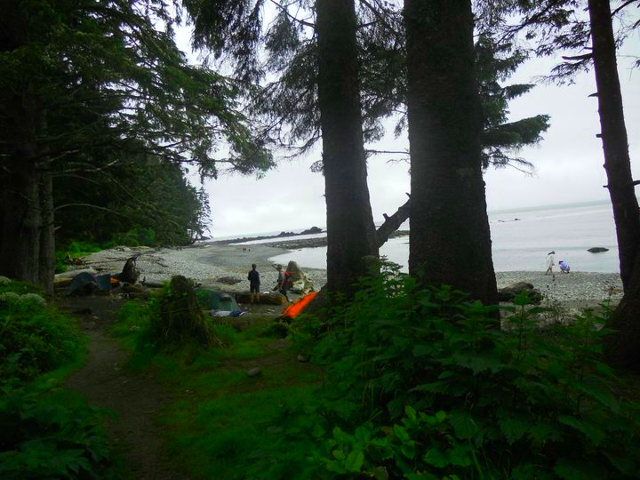 Camping at Sombrio Beach