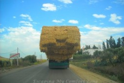 Back roads Morocco hay truck